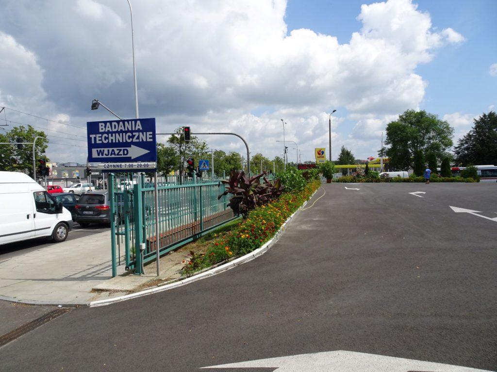 Stacja Kontroli Pojazdów - wjazd Towarowa